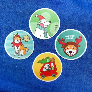 Christmas small round label / sticker