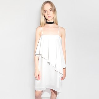 IZAR BABY SILK LAYERED DRESS IN WHITE
