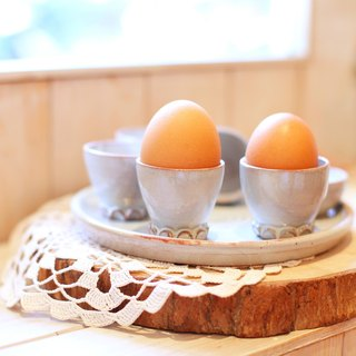 [Good] German handmade Japanese fetish hand made breakfast egg cup group