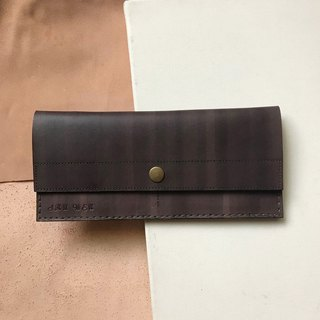 Leather long clip _4 card layer_1 banknote layer _ change bag _ coke tea