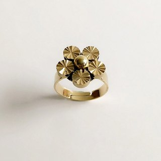 [Original copper] Hand-made brass flowers • Rings