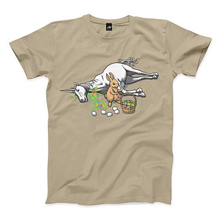 Death and Promise - Khaki - Neutral T-Shirt