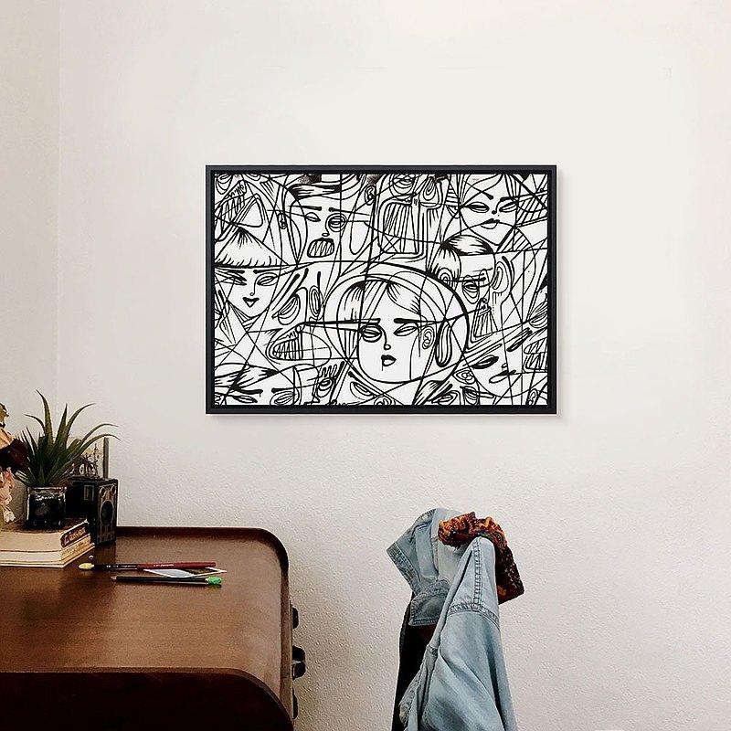 線的藝術-A - 長形掛畫