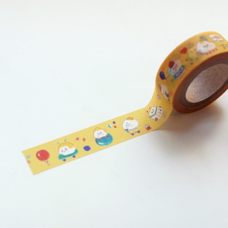 Yellow Cute alien masking tape_ver.2