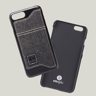 Manzanilla - iPhone 7 plus / iPhone 8 plus oil wax leather phone back cover - black