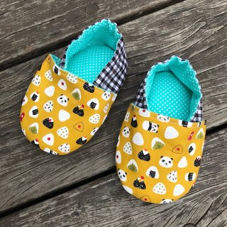 Panda and rice balls <mustard yellow> toddler shoes