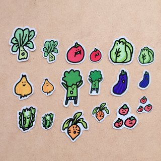 Vegetable baby sticker bag (small)