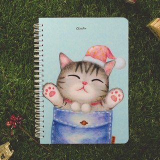 ChinChin painted cat notebook - pocket warm cat (gifts postcard)
