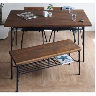 KeLT Nordic style ancient wood wind natural wood non-toxic furniture antique long bench bench