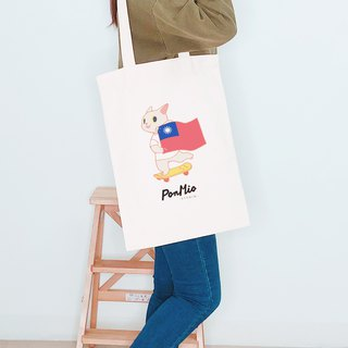Flag meow - Shoulder canvas bag