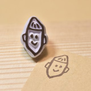 Sweet potato boy handmade rubber stamp
