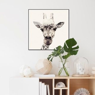 【Original】 forest trip crystal engraving animal decoration painting giraffe painting