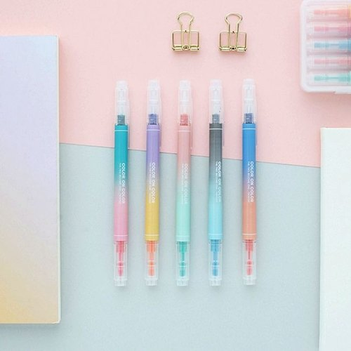Livework-10-color double head highlighter set (5 into) - Dream gradient, LWK36760