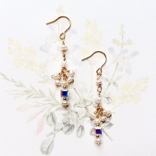Snow fantasy, Snow pearl earring, Suitable for all kinds of daily match, 14kgf, PinkoiENcontent