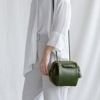 CUDDLE-MINIMAL WOMEN SOFT LEATHER BAG-DARK GREEN