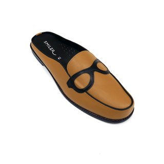 --MENS-- Glasses half-sandals - Brown