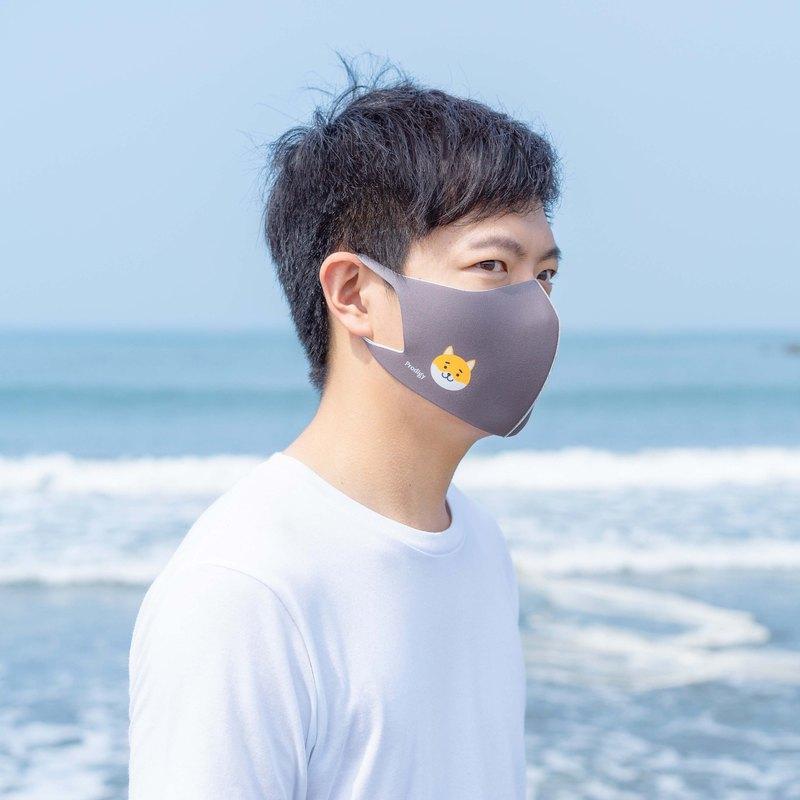2色─柴犬─3D立體透氣抗菌口罩