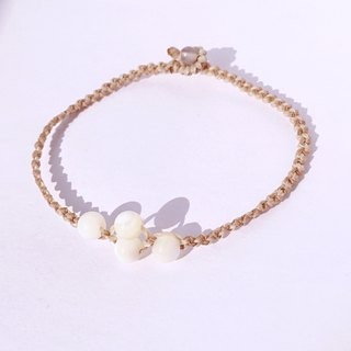 Pearl shell minimal style travel bracelet | Summer limited waterproof design