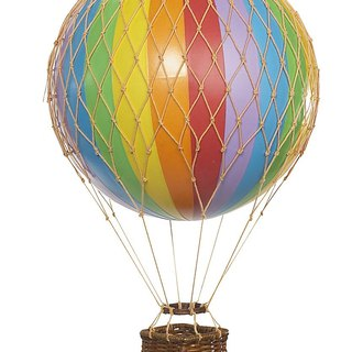 Authentic Models Hot Air Balloon Hanging (Light Travel/Rainbow)