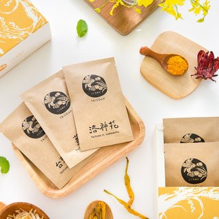 Travel with a group of tea gift box [three three of the town of TriSoap] Taichung Hemerocallis lily flower roses red currant warm turmeric natural cold handmade soap
