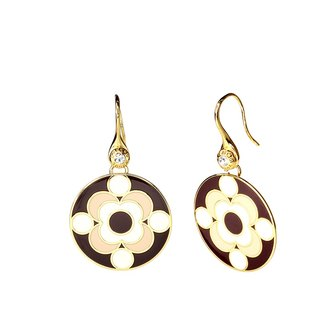 Louis de Broglie quantum Cloisonne Earrings (gold) -18,109,151,108