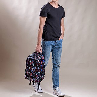 "SOLIS Paradise Series  15""Ultra+ basic laptop backpack (Tropical Red)"