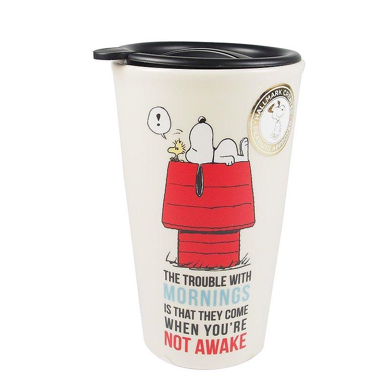 旅行隨身杯Snoopy早晨的麻煩【Hallmark-Peanuts 史努比馬克杯 】