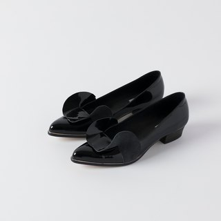 ZOODY / 涟漪 / handmade shoes / flat pointed baotou shoes / black