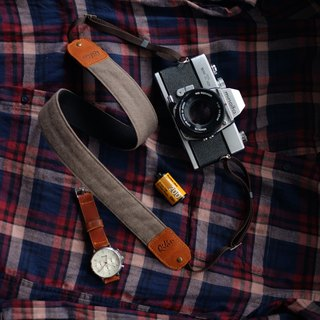 Grey Denim Camera Strap