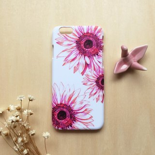 Pink and purple sunflowers. Matte Case( iPhone, HTC, Samsung, Sony, LG, OPPO)