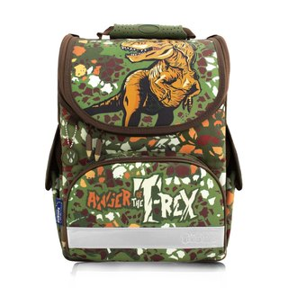 Tiger Family Aristocrat Ultra Lightweight Nursing School Bag + Stationery Bag + Pencil Box - Camouflage Tyrannosaurus