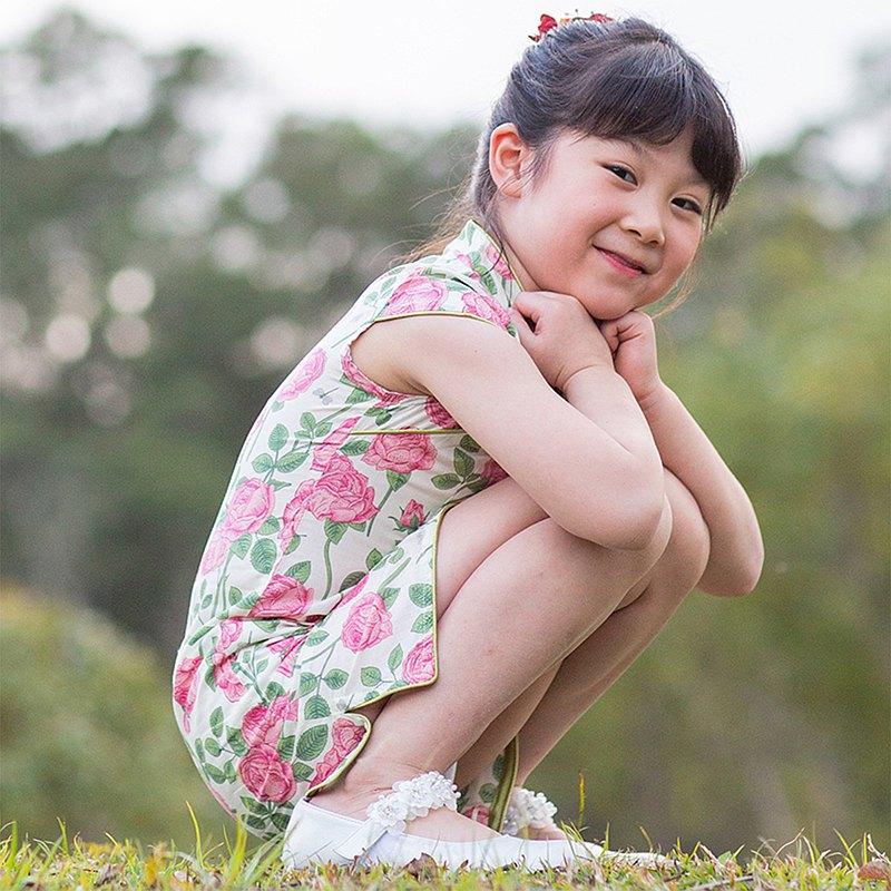 兒童旗袍 古風 四季款 茉莉粉玫