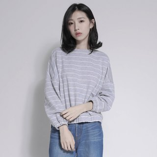 SU: MI said Horizon Horizon Striped Top_7AF004_Grey