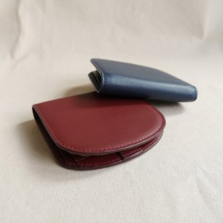 """Arch"" leather slim wallet in navy - Handmade"