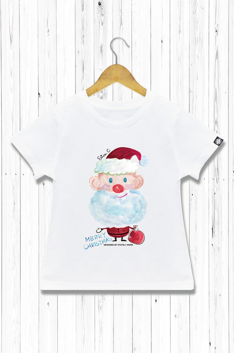 STATELYWORK Santa Claus Hand-painted T-Children's Wear