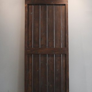 Rural industrial wind barn door sheet (one-sided) Japanese fonts door / sliding door / cupboard door / room door / bathroom door