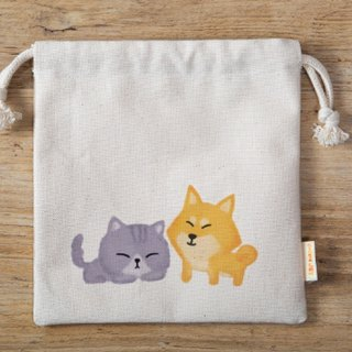 Fat Cat and Shiba Inu / little / pouch