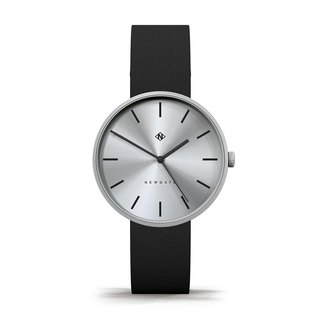 THE DRUMLINE - BLACK LEATHER STRAP WATCH