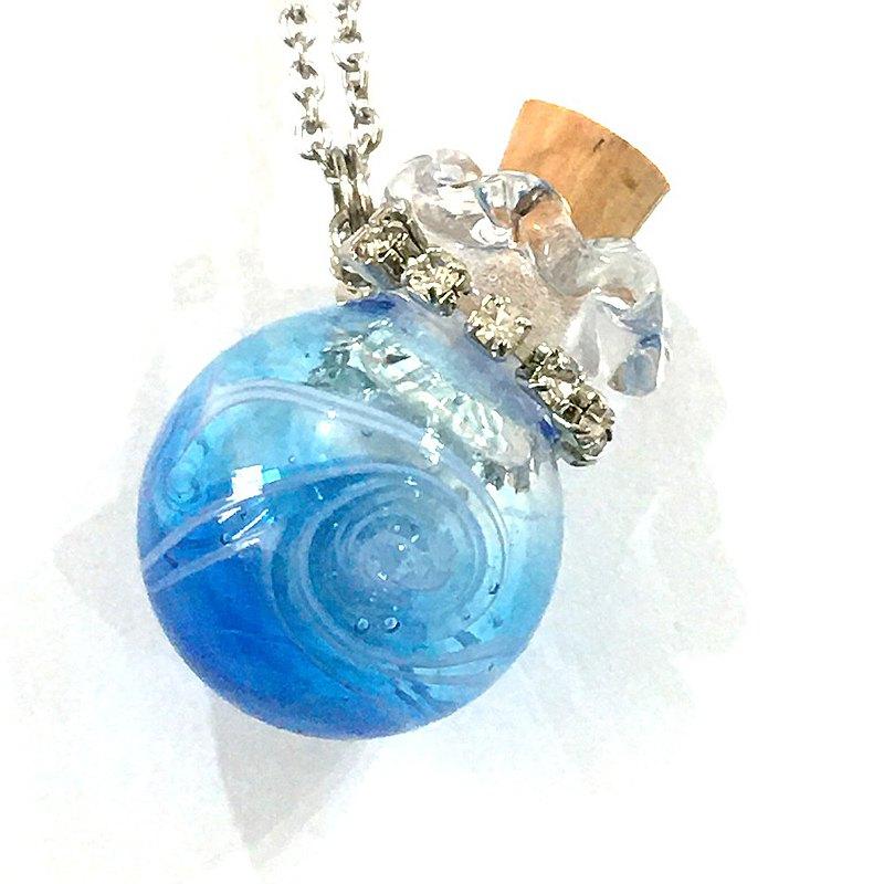 海洋漩渦琉璃吹製香氛瓶項鍊