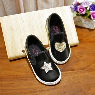Asymmetric Glitter Star Heart Sneakers - Lockheed