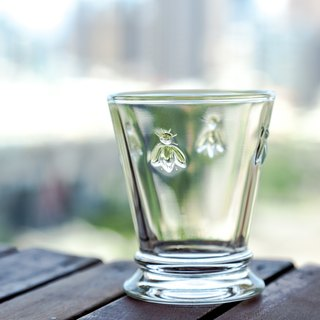 Bee glass cup