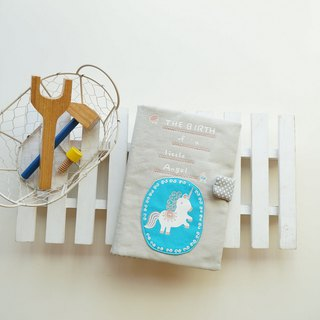 Hand drawn unicorn baby brochure set