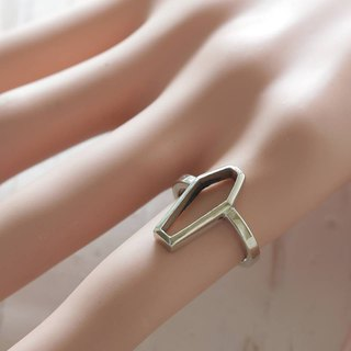 Silver coffin ring gothic jewelry alchemy odd women satanic occult punk Stacking