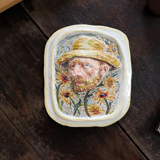 Ceramic Vangogh on frame