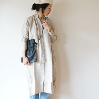 Linen One piece coat ladies NATURAL