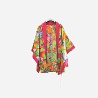 Dislocation vintage / printed cardigan kimono jacket no.919 vintage