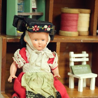 Good day fetish Germany traditional vintage costume female doll