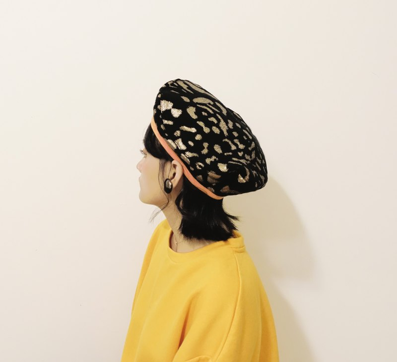 Beret / Painter Hat / Animal Pattern / Small Head Fuxing