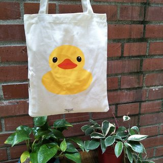 Official yellow duckling green canvas bag