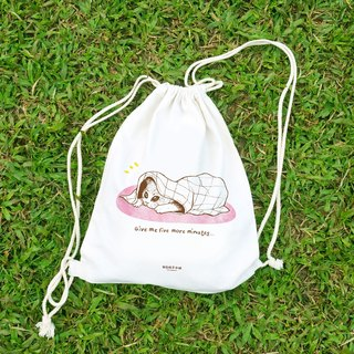 【Animal Series】#6 Tired cat draw-string bag